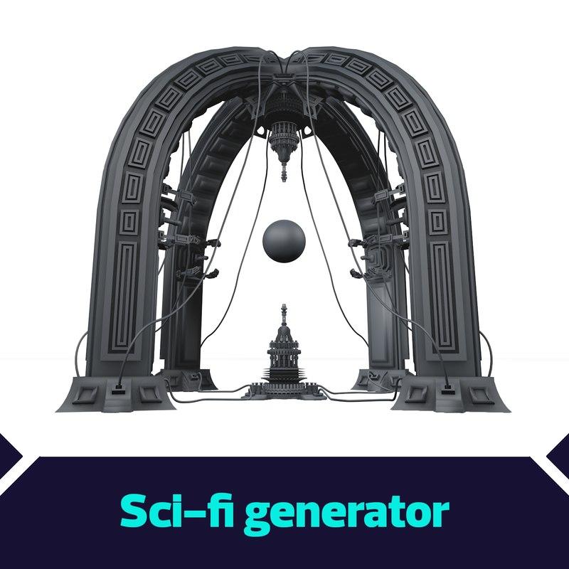 3D scifi generator