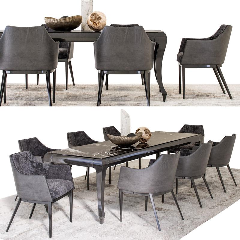 dining set - albert-one 3D model