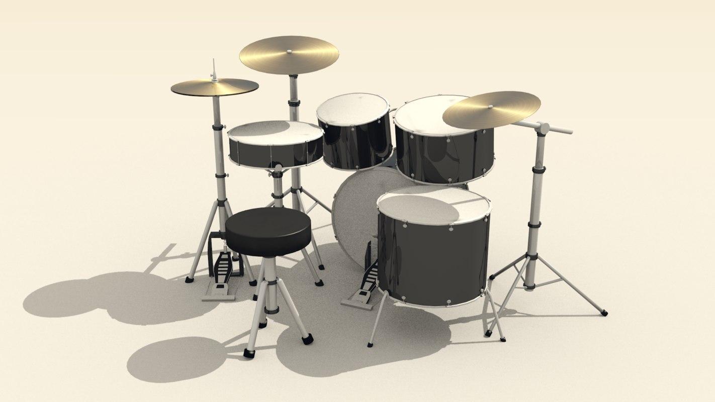 drum costumizable tom 3D model
