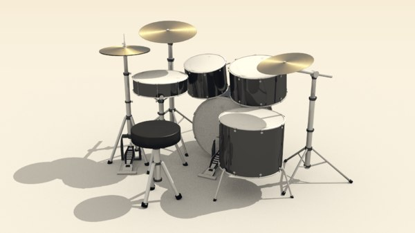 drum costumizable tom 3D model
