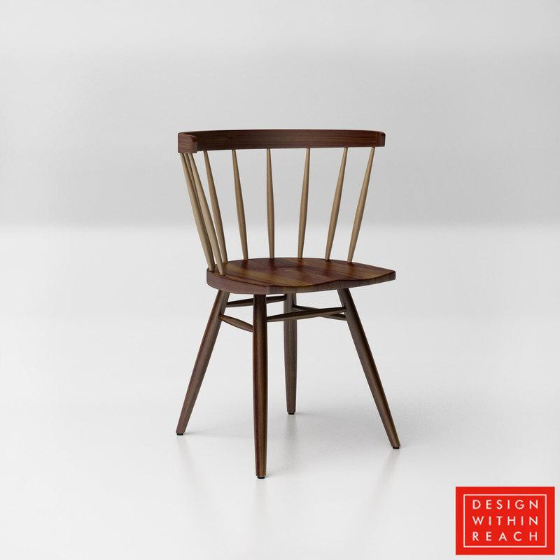 Dwr Nakashima Straight Backed Chair Model