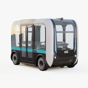 3D self-driving bus olli driverless