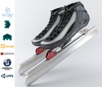 Leather Long Track Speed Skate