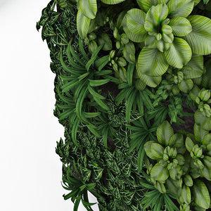 3D green wall exterior interior