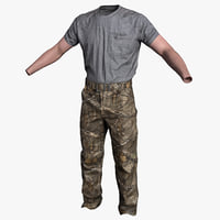 3D workcamo carhartt - model