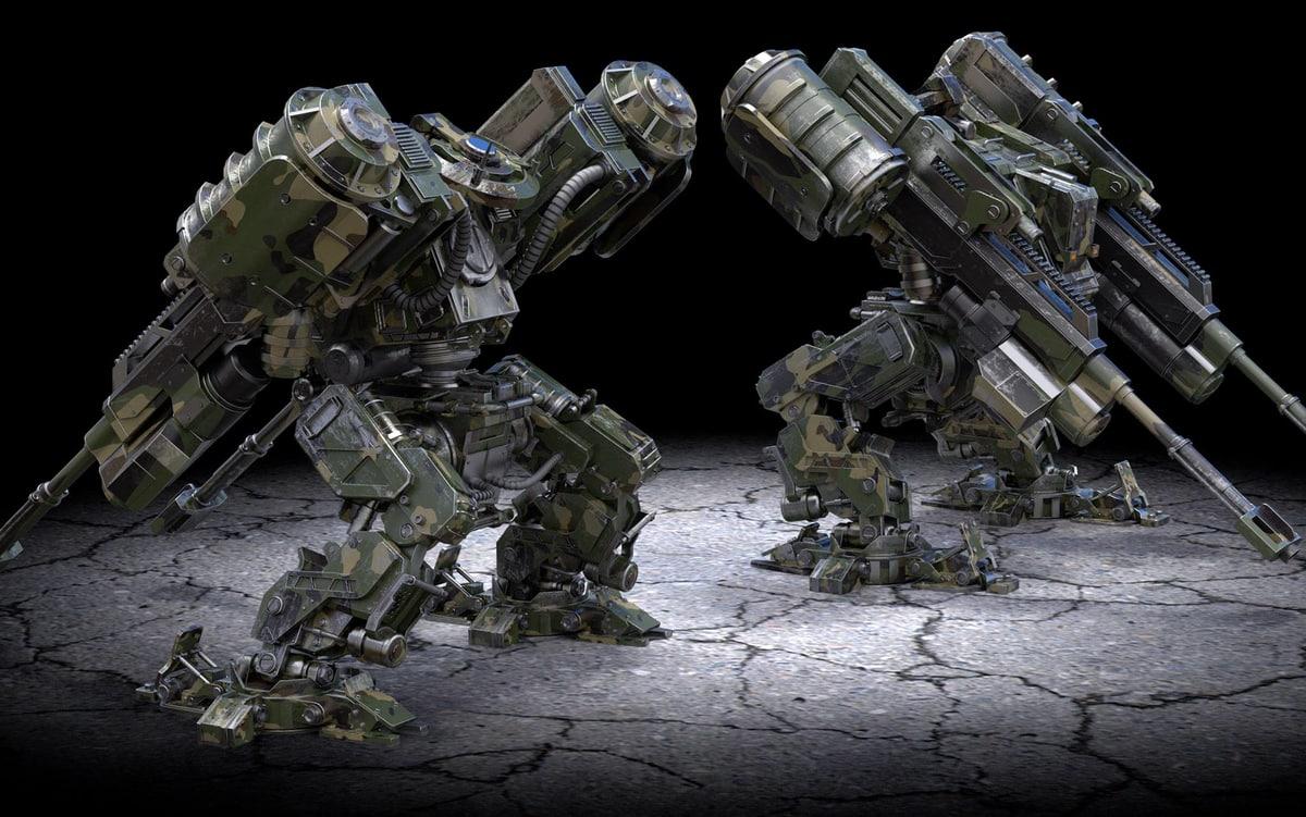 battle robot 3D model