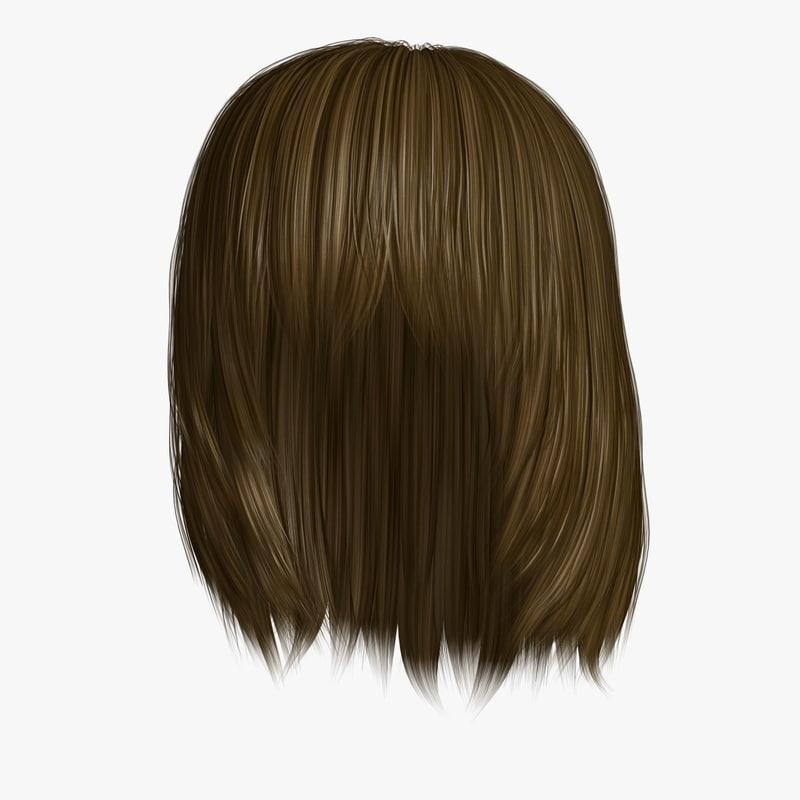 hairstyle 9 hair 3D model