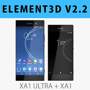 3D sony xperia xa1 black model