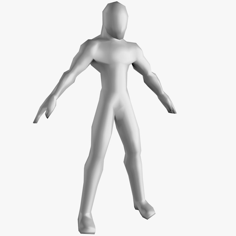 generic base mesh male character 3D