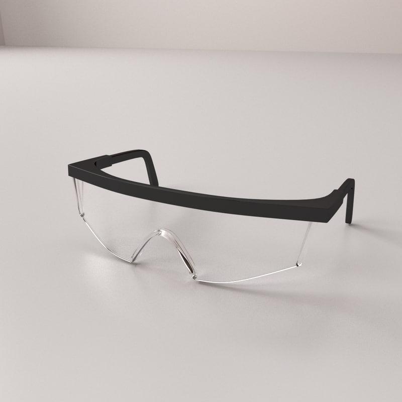 3D safety glass model