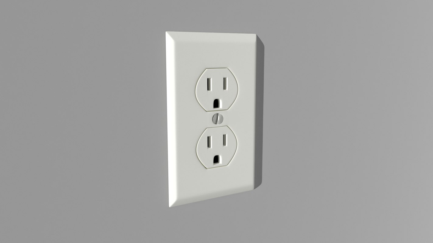 3D wall outlet