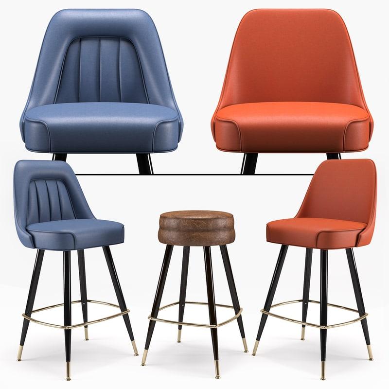 3D richardon seating s bar stool