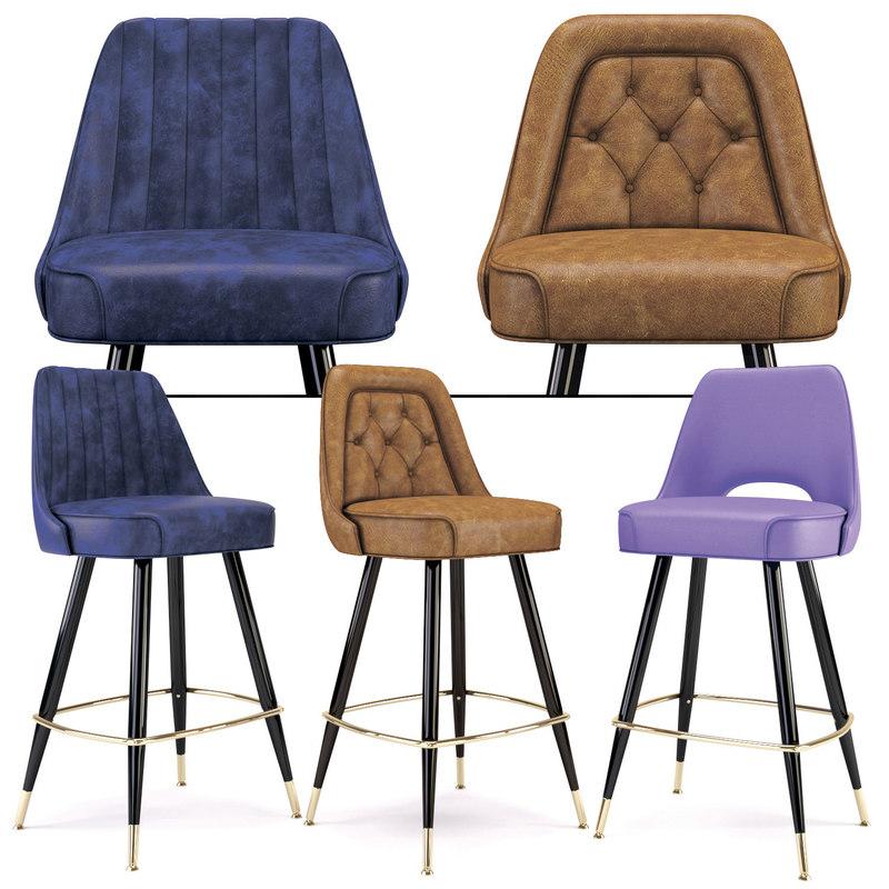 richardon seating s bar stool 3D model