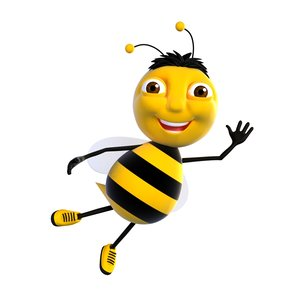cartoon bee character model