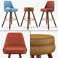 bar stool richardon seating 3D