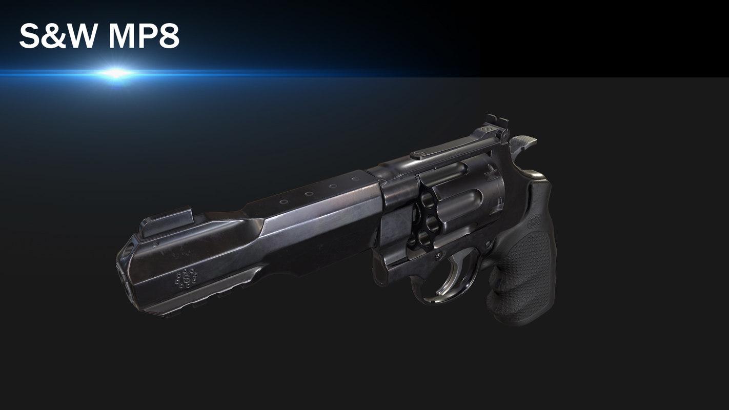 3D s w r8 revolver model