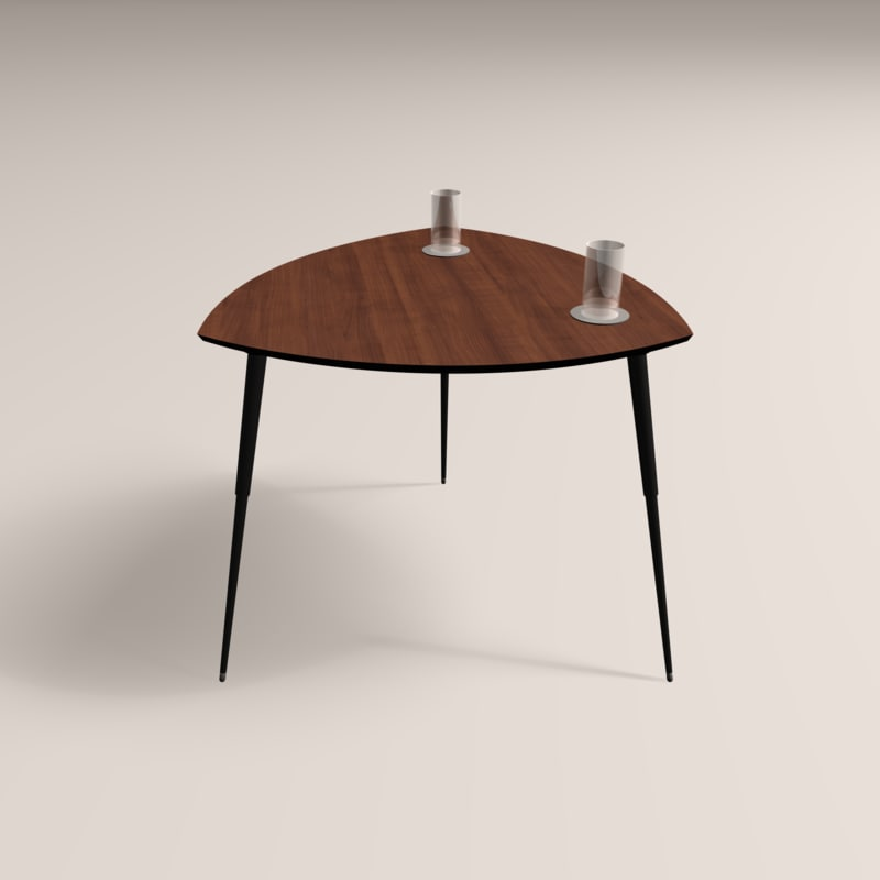 3D wooden modern coffee table