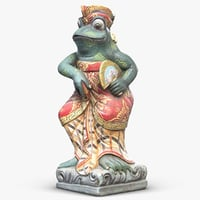 3D sculpture frog dancer model