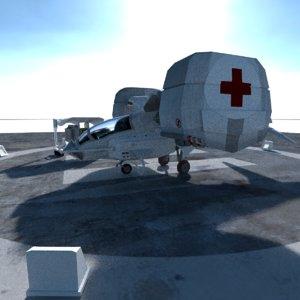 3D spaceship ambulance