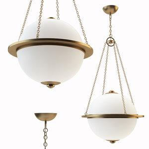 modern globe lantern 3D model