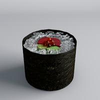 3D sushi caviar model