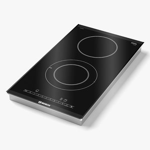 3D bosch induction hob model