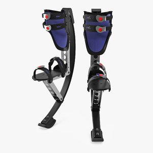 jumping stilts 3D