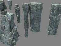 3D mountain 3D model 833