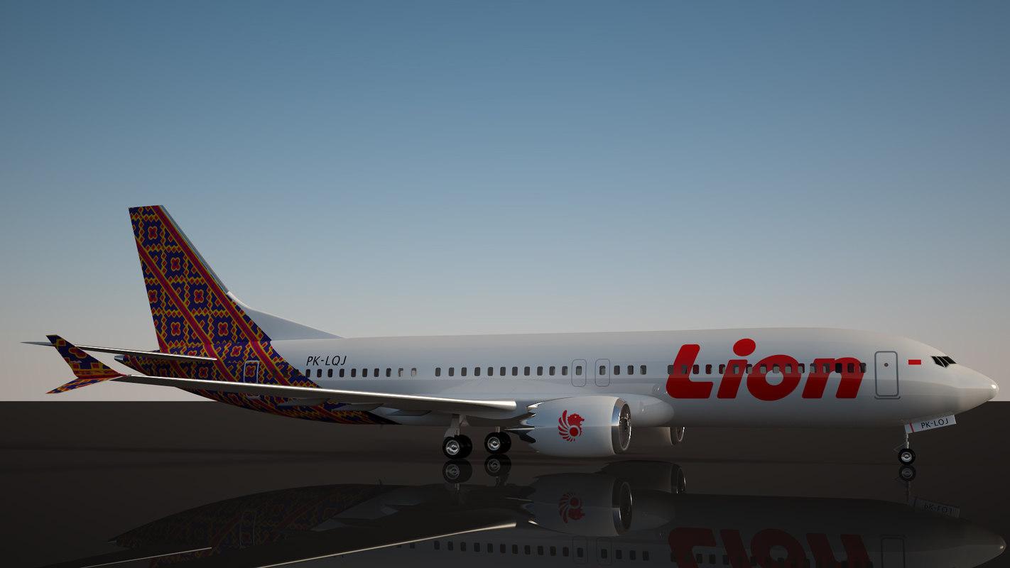 8 737 boeing 3D