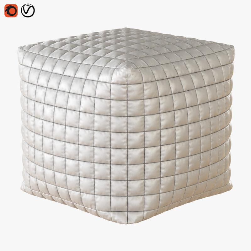 3D model pouf cube
