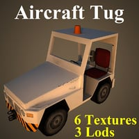 aircraft tug airport 3D model