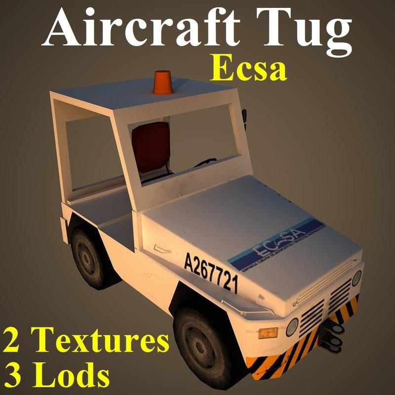 3D aircraft tug eca