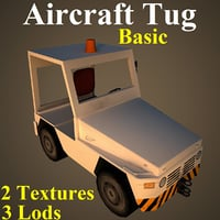 3D aircraft tug basic model
