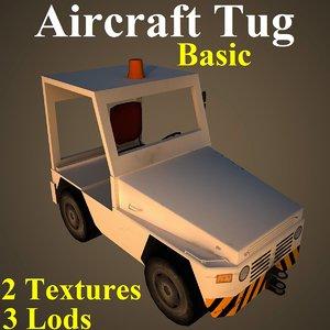 3D aircraft tug basic model