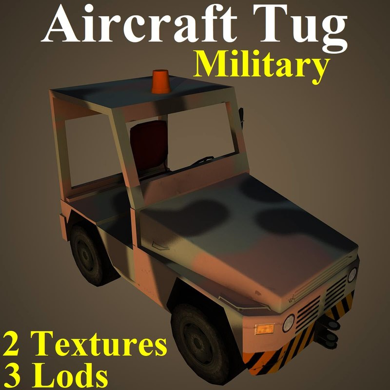 aircraft tug mil 3D model
