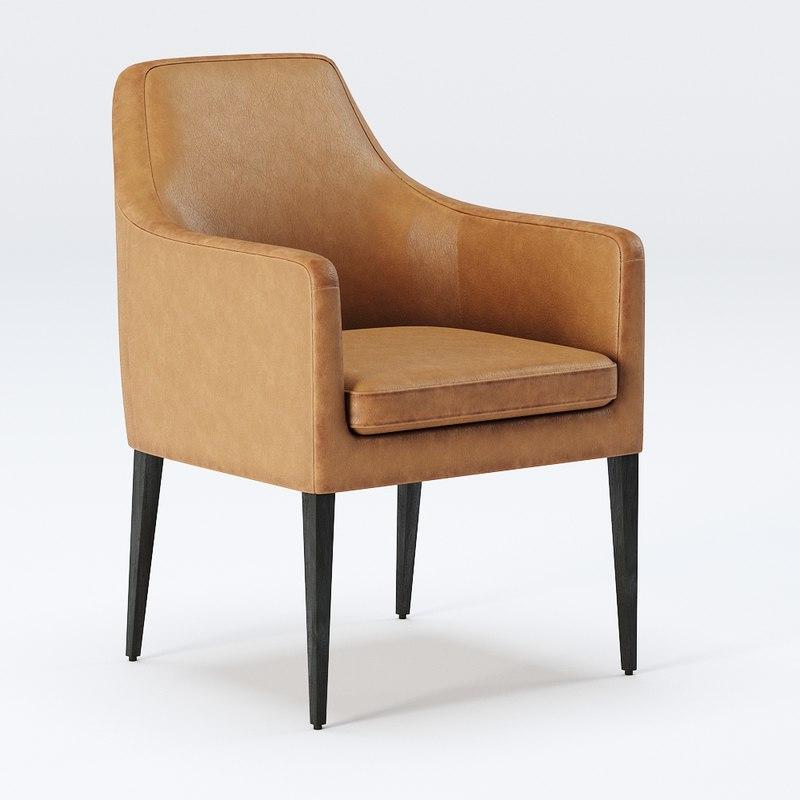 allegra armchair chair 3D model