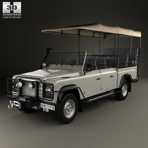 3D model defender safari viewing
