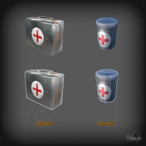 pack medical kits 3D model