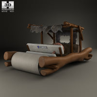 flintstones stone car 3D