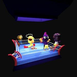 cuckoo boxing 3D model