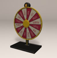3D model fair spinning wheel