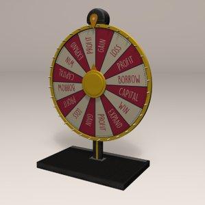 3D model fair spinning wheel