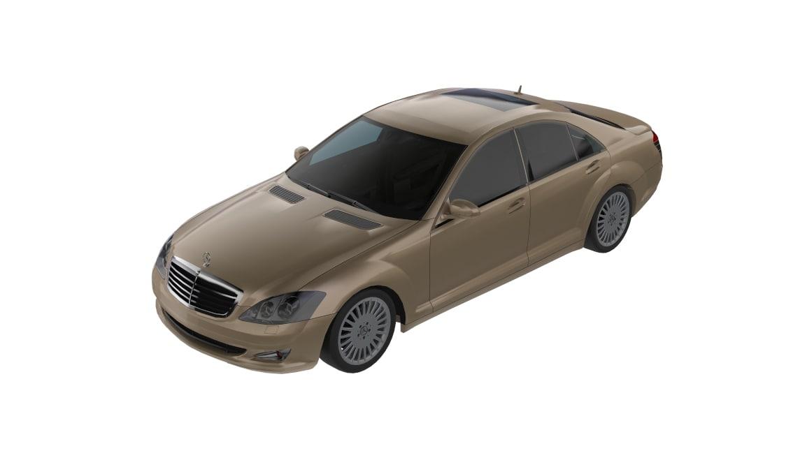 3D 2005 mercedes w221 s500 model