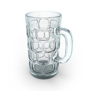 3D typical beer mug