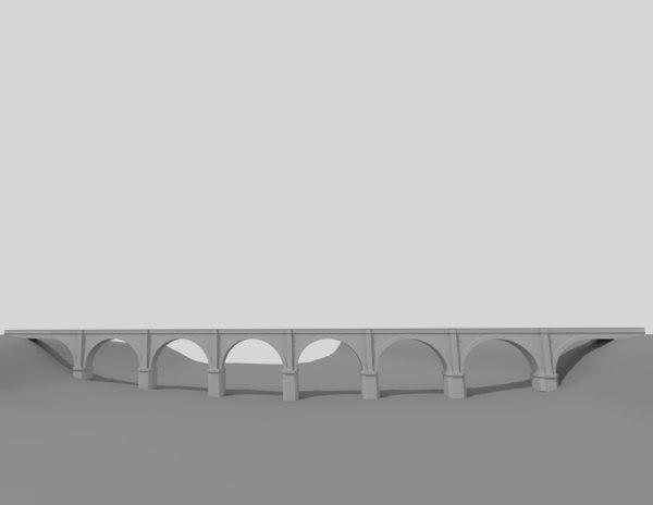 railroad bridge 3D