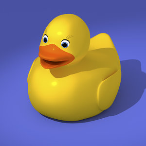 yellow rubber duck 3D model