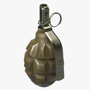 3D model grenade f1