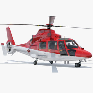 helicopter emergency medical eurocopter 3D