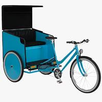 3D model pedicab v2