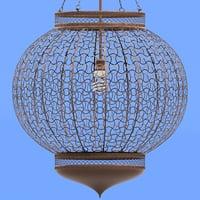 3D lantern metal model